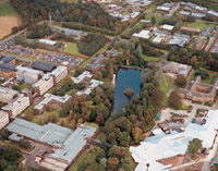 Aerial view of HW Campus