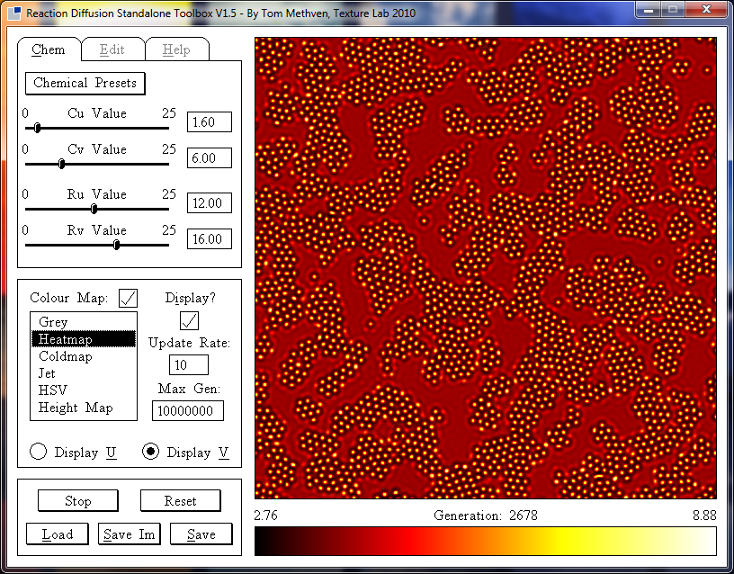 Reaction Diffusion Standalone Toolbox