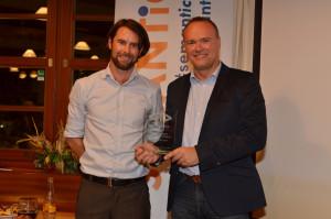 Gerhard receiving ELDC award